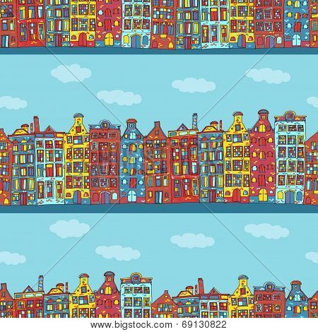 Seamless amsterdam holland background