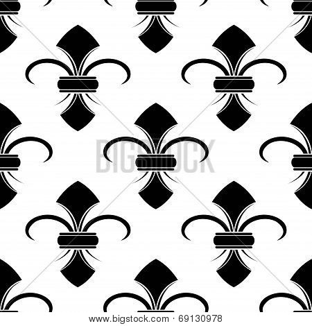 Classical French fleur-de-lis background pattern