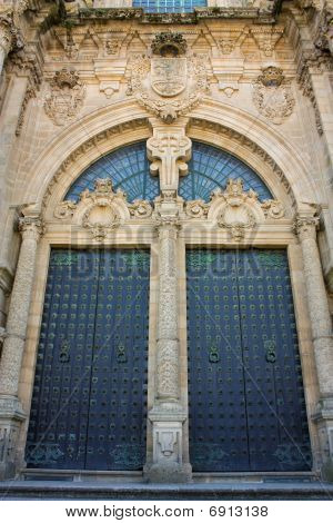 Door of Glory. Cathedral of Santiago de Compostela, Spain