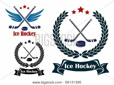 Ice Hockey sports emblems