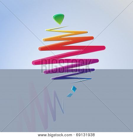 modern color whirligig, on an abstract background. Fast whirlabout. Luminous peg-top. Vector illustr