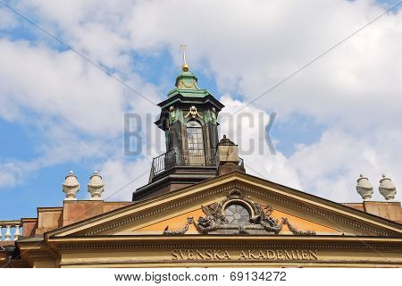 Roof Of Swedish Academy In Stockholm