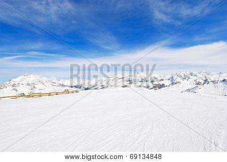 View Of Skiing Area In Paradiski Region, France