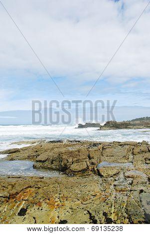 Shore Of Atlantic Ocean In Costa Da Morte, Spain
