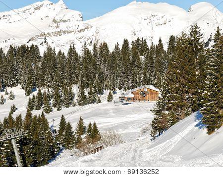 View Of Skiing Area In Portes Du Soleil Region