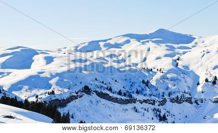 Snow-capped Mountains In Alps