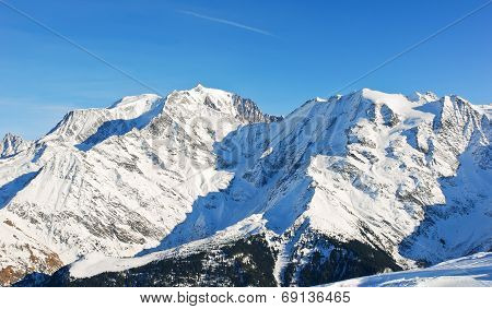 Montblanc Mountain In Alps