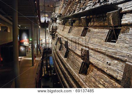 Interior Of Vasa Museum In Stockholm, Sweden