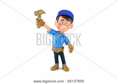 Fix-It Felix  figure toy character from Wreck-it Ralph