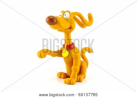 Spike dog figure toy