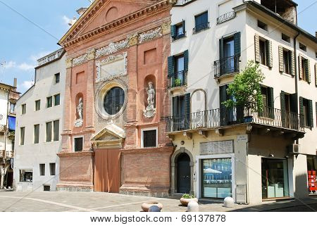 Facade Of Church Of San Clemente In Padua