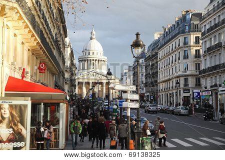 View Of Pantheon Through Rue Soufflot, Paris