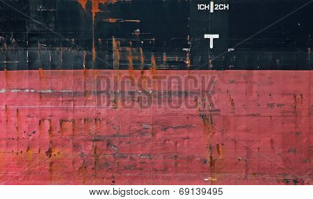 Black And Red Cargo Ship Hull Side Texture