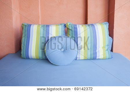 comfortable pillow in room corner decorated by easy style