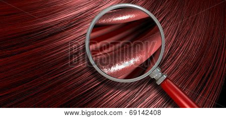 Red Hair Blowing With Magnification