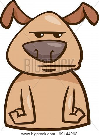 Mood Bored Dog Cartoon Illustration