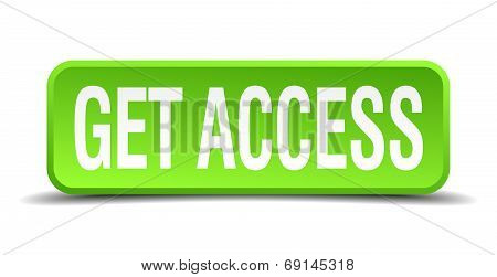 Get Access Green 3D Realistic Square Isolated Button