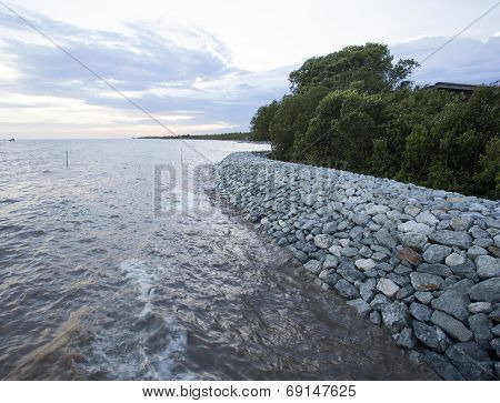 Rock Dam Sea Coast Protection Erosion