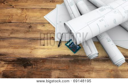 technical blueprints