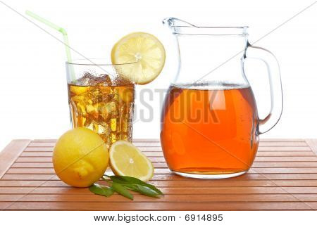 Ice Tea Pitcher And Tumbler