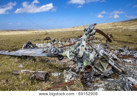 Helicoptere Crashed In Falkland Islands