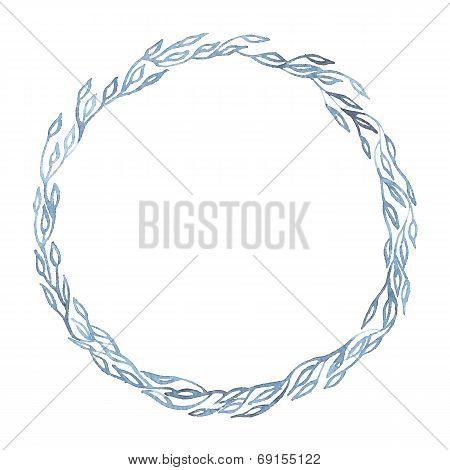 Indigo blue hand drawn frame