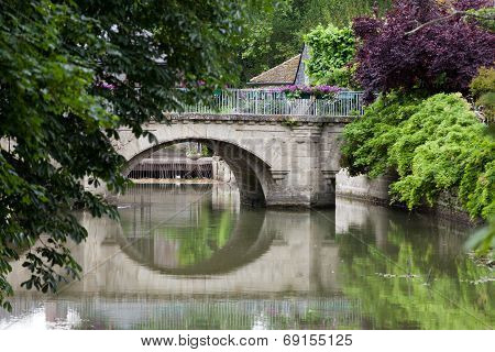 Old bridge in Azay Le Rideau.Loire Valley France