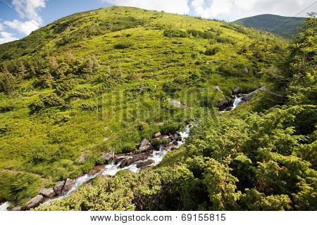 Stream in mountains