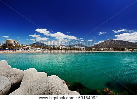 Beach in Puerto Banus, Marbella, Spain