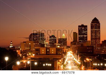 Des Moins skyline