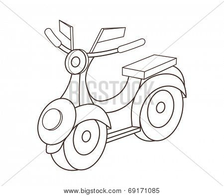 toy motorcycle (vector illustration)