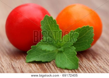Round Chewing Gum With Green Stevia