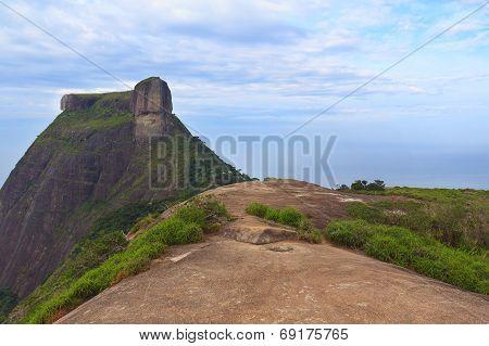 Peak Mountain Pedra Da Gavea From Pedra Bonita, Rio De Janeiro