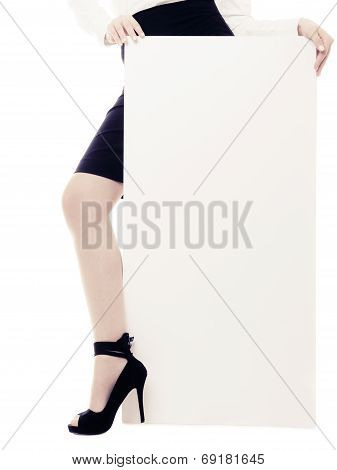 Blank  Space Banner And Female Leg