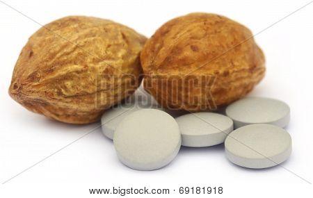 Medicinal Haritaki Fruits With Tablets