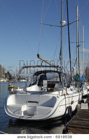 A sailboat stern