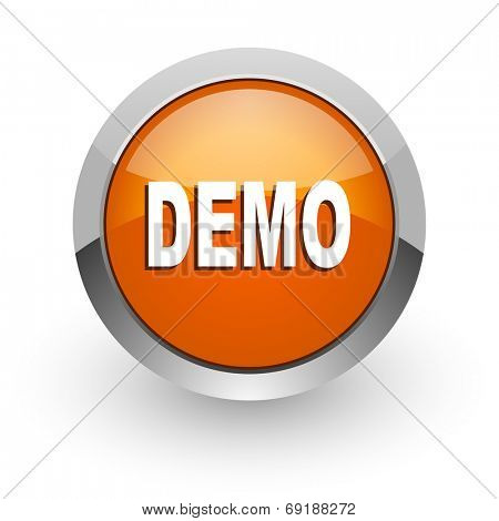 demo orange glossy web icon