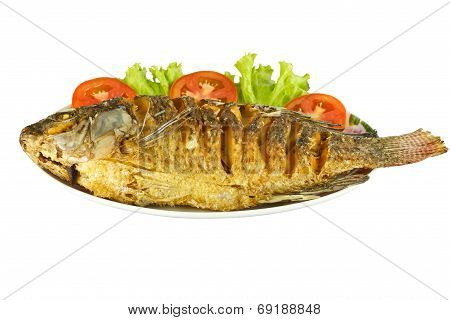 Fried Tilapia fish.