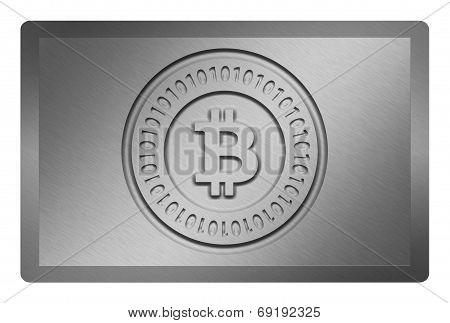 Silver Bitcoin Metal Texture