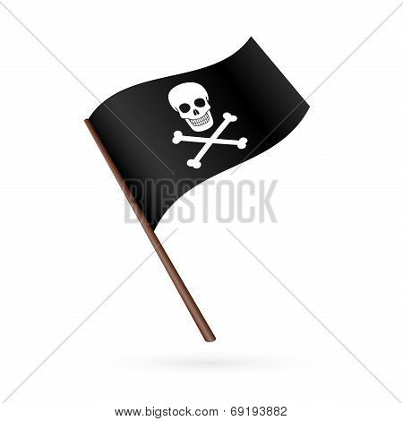 Pirate flag icon