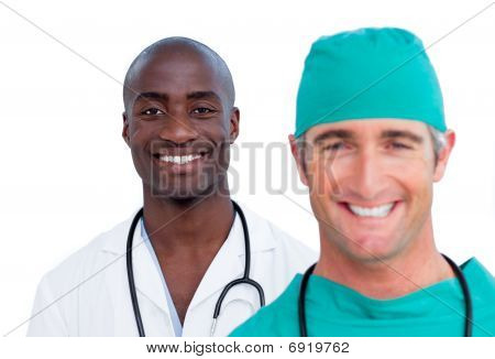Close-up Of Two Male Doctors