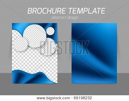 Blue flyer template design