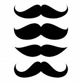 image of rogue  - Set of mustache isolated on white background - JPG