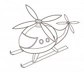 image of helicopter  - cute toy helicopter  - JPG