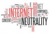 image of neutral  - Word Cloud with Internet Neutrality related tags - JPG