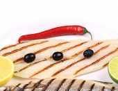 foto of pangasius  - Grilled seabass with pangasius fillet - JPG