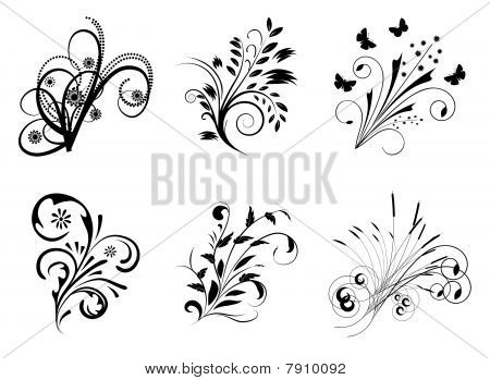 Collection of decorative elements for design