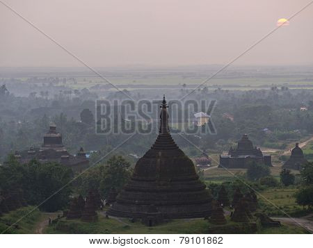 Sunset Over Mrauk U, Myanmar