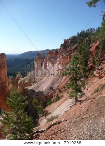 A Sloping Wall in Bryce Canyon