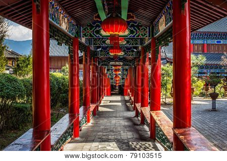 Chinese Outdoor' Hallway